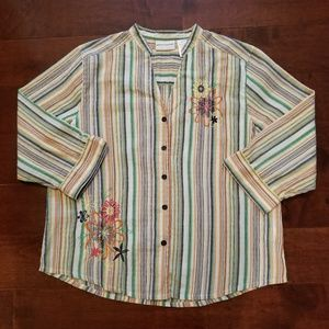 Alfred Dunner Embroidered Top Women's Size 16